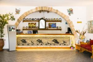 The lobby or reception area at Ekaterini Hotel