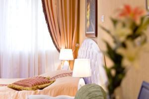 Krevet ili kreveti u jedinici u okviru objekta Lazar Lux Apartments