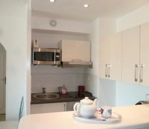 A kitchen or kitchenette at Cannes Center Festival and Beach