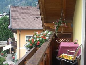Ein Balkon oder eine Terrasse in der Unterkunft Haus Anika Ferienwohnung