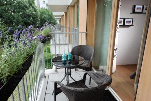 A balcony or terrace at Apartament Klasyka