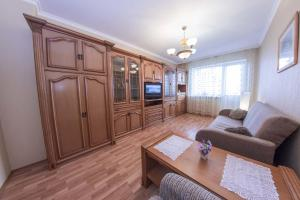 Гостиная зона в Apartment Lux Na Mingazheva