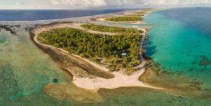 A bird's-eye view of Fafarua Ile Privée Private Island