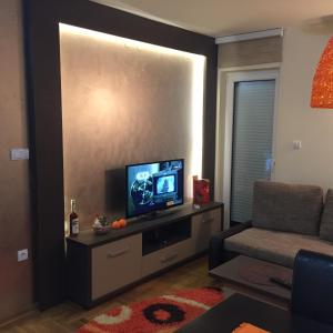 A television and/or entertainment center at Apartment Perla