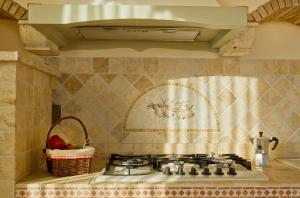 Virtuve vai virtuves aprīkojums naktsmītnē Villa Degli Ulivi