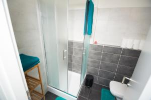 A bathroom at Bratislava Downtown Apartments