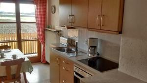Küche/Küchenzeile in der Unterkunft Schneiderhof