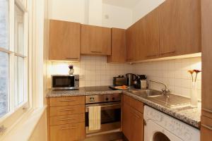 A kitchen or kitchenette at Saint Paul's Apartment