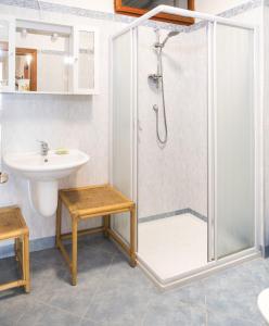 A bathroom at Appartamento Rivalunga Bardolino