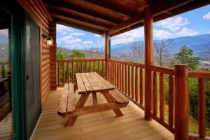 A porch or other outdoor area at Heavenly Heights Holiday home