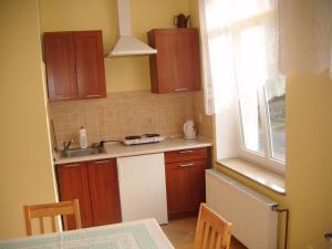 A kitchen or kitchenette at Apartament Wolin koło Międzyzdrojów