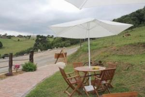 A porch or other outdoor area at Apartment in Ampuero Cantabria 101236
