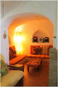 Zona de estar de Casa Cueva Alhama