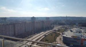 Vista general de Gdansk o vista desde el apartamento