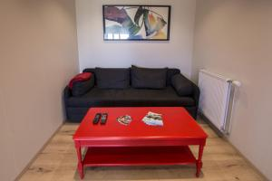 A seating area at Hestasport Apartment