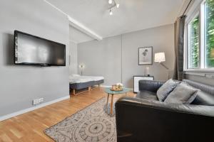 Et sittehjørne på Forenom Serviced Apartments Oslo Rosenborg