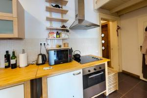 A kitchen or kitchenette at Corvin Museum View Studio