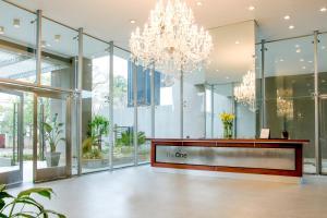 The lobby or reception area at Asunción Rent Suites Santa Teresa
