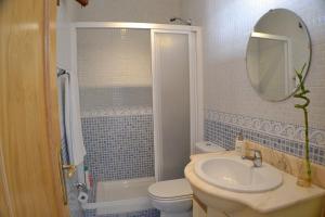 A bathroom at Panoramic Charming Studio