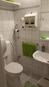 A bathroom at Apartment Patrícia with garden