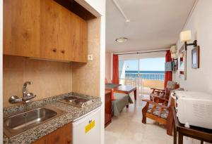 A kitchen or kitchenette at Apartamentos La Jabega