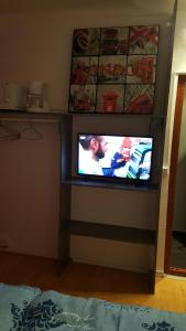 A television and/or entertainment center at Grand Cru