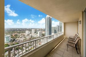 A balcony or terrace at Churchill Suites Miami Brickell - One Broadway