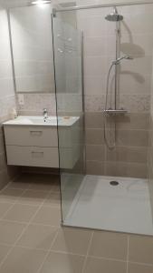 Salle de bains dans l'établissement Appartement Saint-Amour