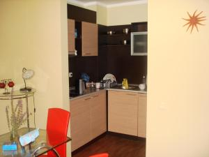 A kitchen or kitchenette at Sunny Island Chernomorets
