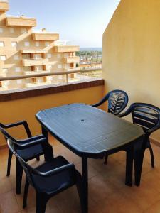 A balcony or terrace at Apartamento Caribe Playa