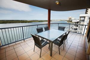 A balcony or terrace at On The River Apartments