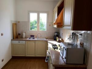 Cuisine ou kitchenette dans l'établissement Palazzu