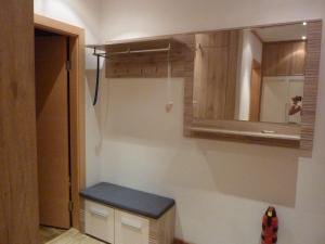 Ein Badezimmer in der Unterkunft Ferienwohnung Blick auf die Buchensteinerwand