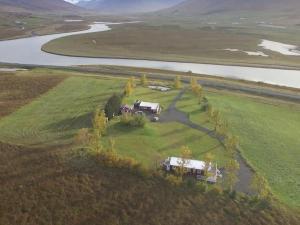 A bird's-eye view of Höfði Cottages