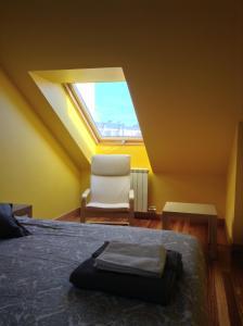Cama o camas de una habitación en Apartamentos Casa de Baixo