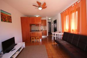 A television and/or entertainment center at Apartment Palmeras Sunrises, Las Americas