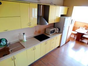 Кухня или мини-кухня в Inndays Apartments on Micheeva