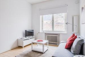 ヘルシンキ サウス セントラル アパートメント メリミエスにあるシーティングエリア