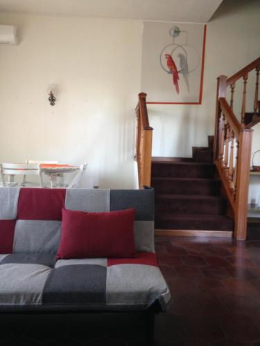 A seating area at Casa Romolo