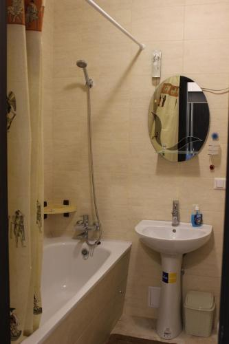 Vonios kambarys apgyvendinimo įstaigoje Apartments raiduzhniy