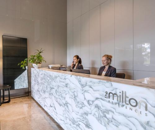 The lobby or reception area at The Milton Brisbane