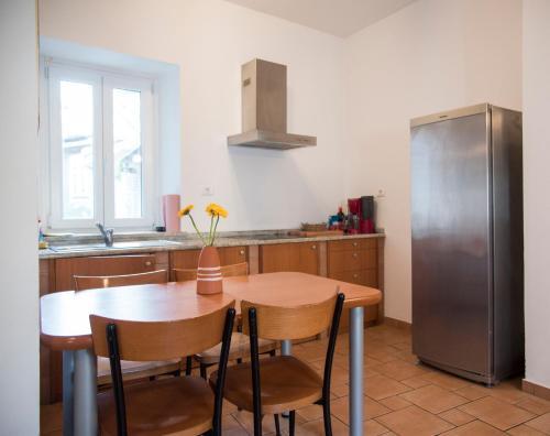 Küche/Küchenzeile in der Unterkunft Jazz Apartments