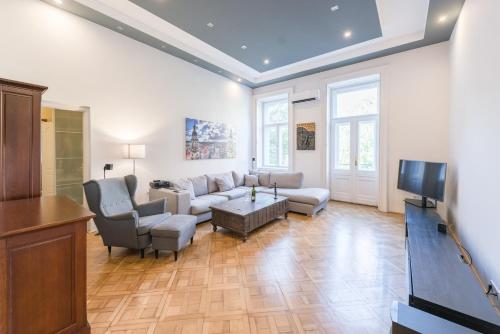 A seating area at Oasis Apartments - Budapest Broadway II