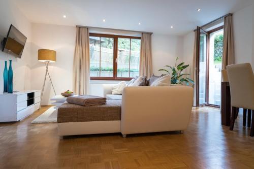 Ein Sitzbereich in der Unterkunft Villa am Grossen Garten