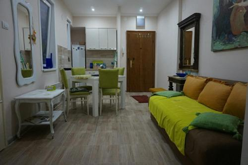 A seating area at MK apartments 2