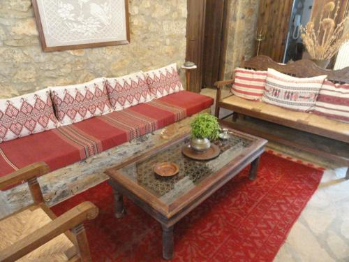 A seating area at Zeus House
