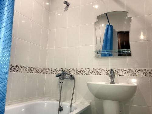 Ванная комната в Apartamienty pr.Komsomol'skii,44