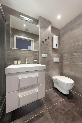 A bathroom at Modern flat near Prague Castle