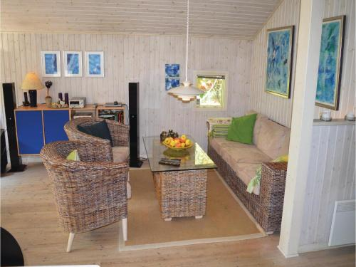 A seating area at Holiday home Stenkrogen