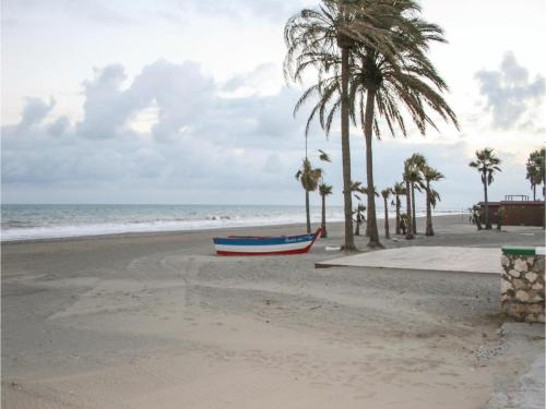 A beach at or near the apartment